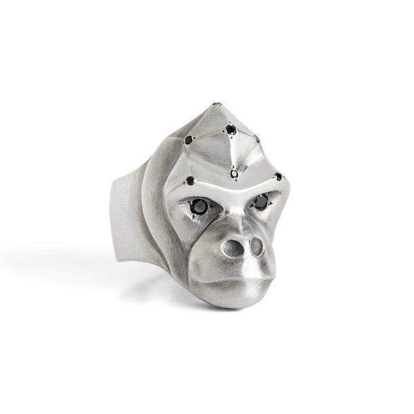 ELINA GLEIZER Select Your Size Gorilla Ring with Black Diamonds