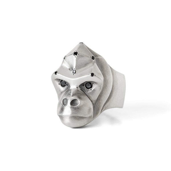 ELINA GLEIZER Select Your Size Gorilla Ring with Black Spinel