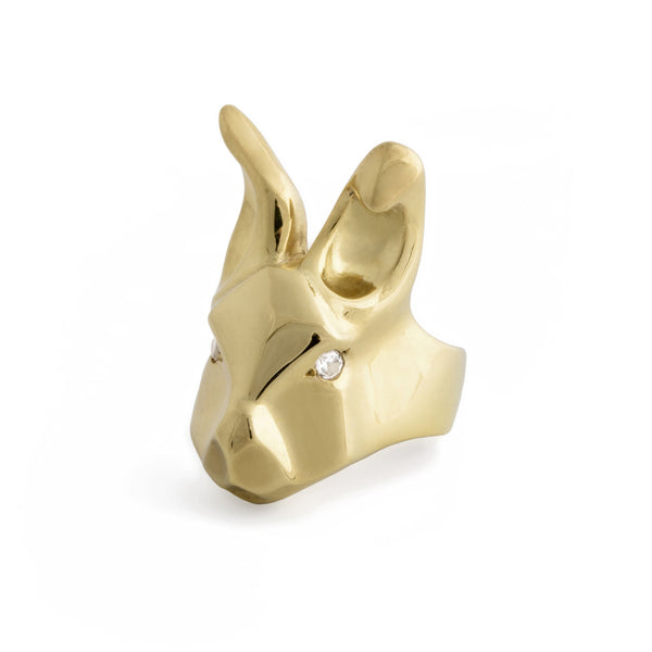 ___ Gold Rabbit Ring & Diamonds