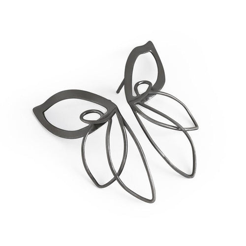 ___ Jewelry Black Butterfly Earrings