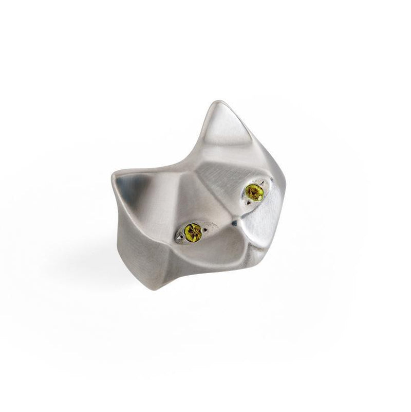 ___ Jewelry Cat Ring With Yellow Sapphires