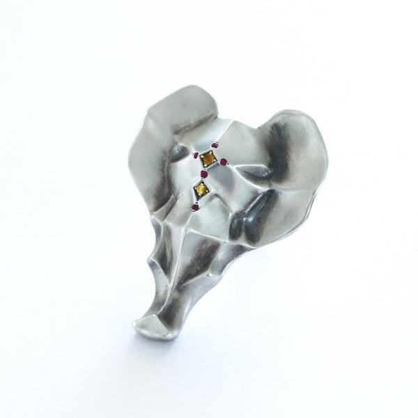 ___ Jewelry Elephant Ring with Sapphires & Ruby