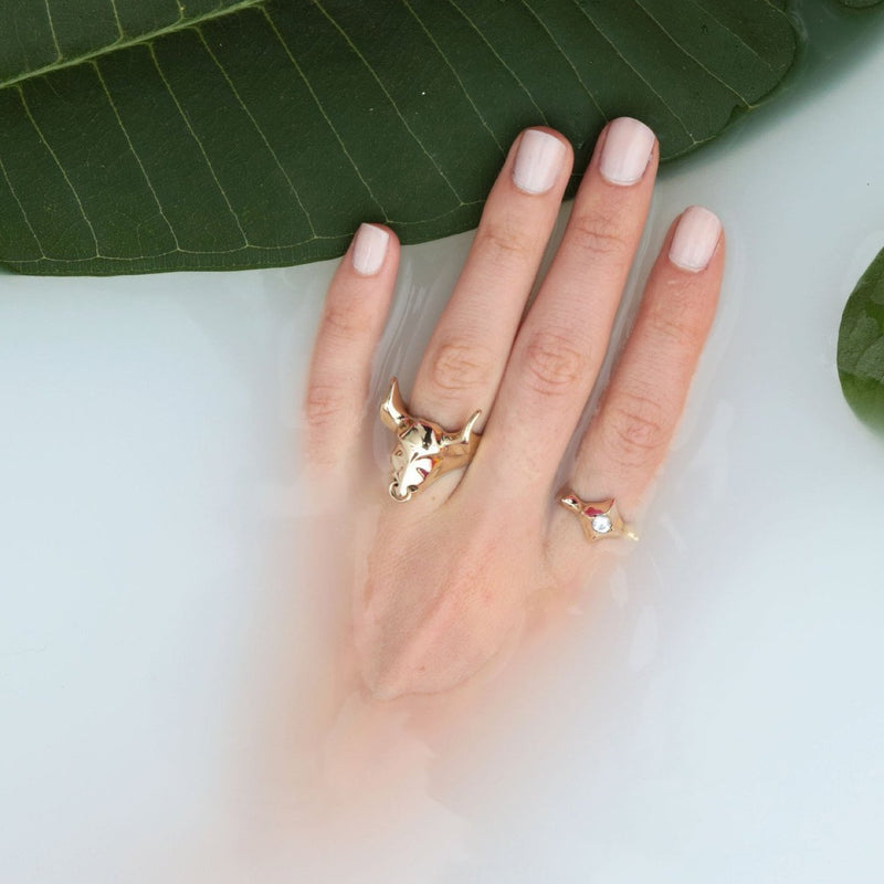 ___ Jewelry Gold Bull Ring
