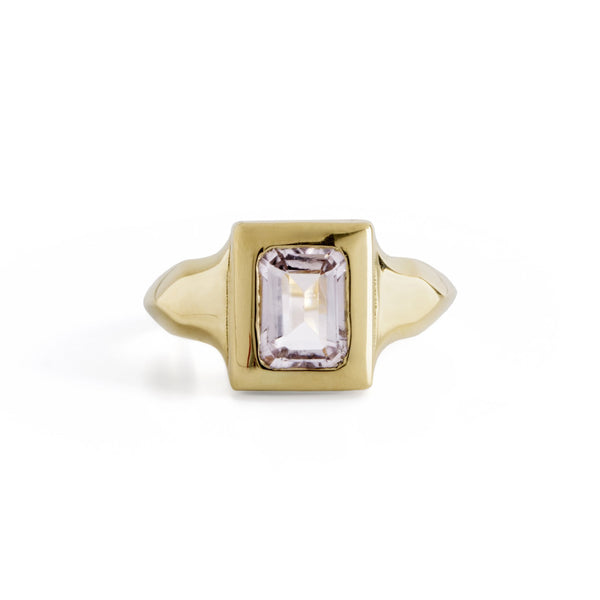 ___ Jewelry Gold Morganite Oblong Engagement Ring