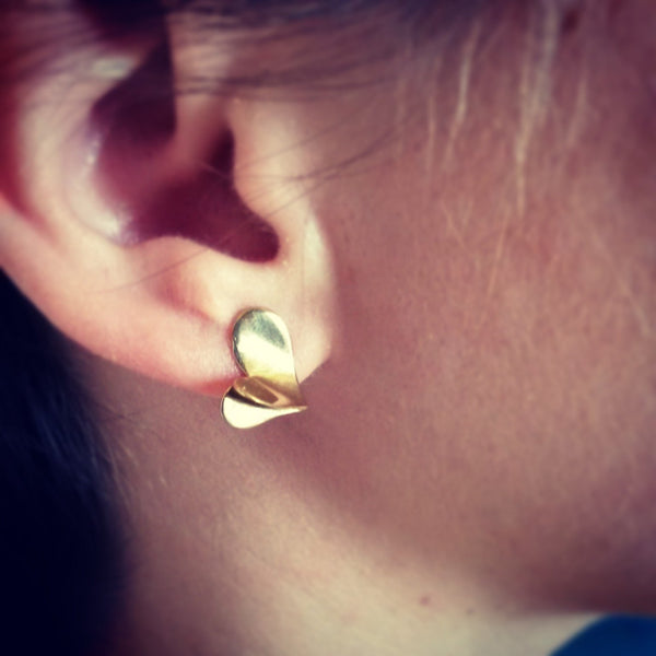 ___ Jewelry Golden Heart Earrings