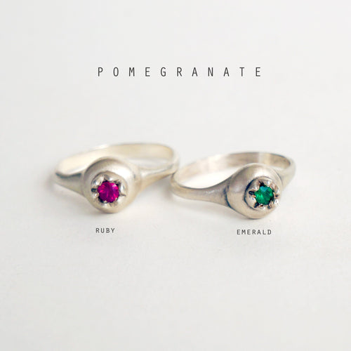 ___ Jewelry Pomegranate and Ruby Ring