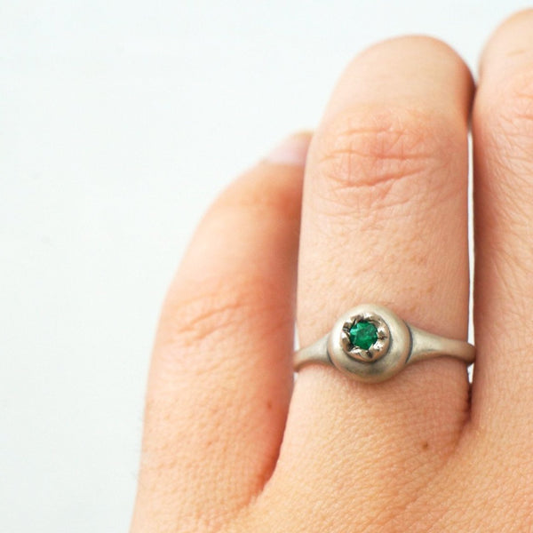 ___ Jewelry Pomegranate & Emerald Ring