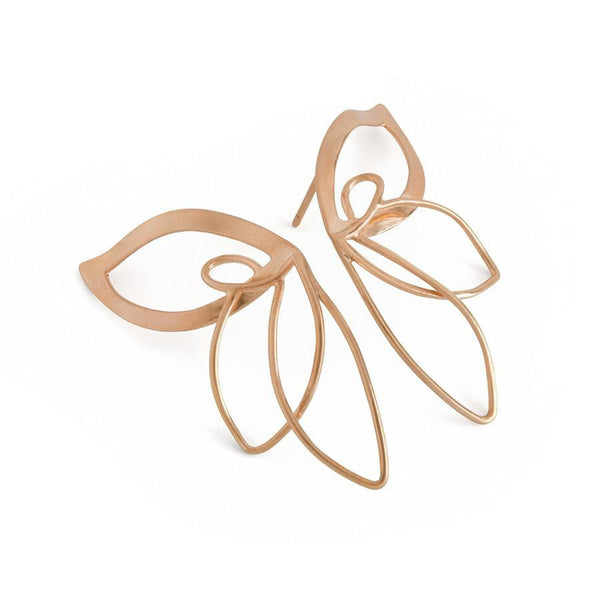 ___ Jewelry Rose Gold Butterfly Earrings
