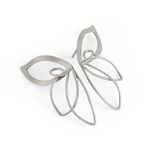 ___ Jewelry Silver Butterfly Earrings