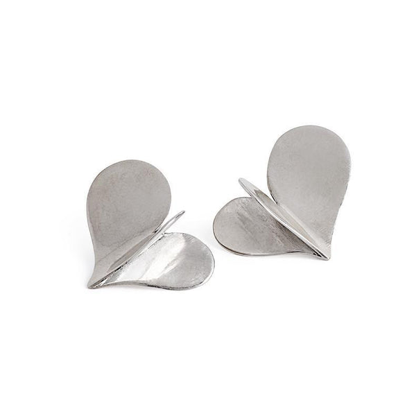 ___ Jewelry Silver Heart Earrings