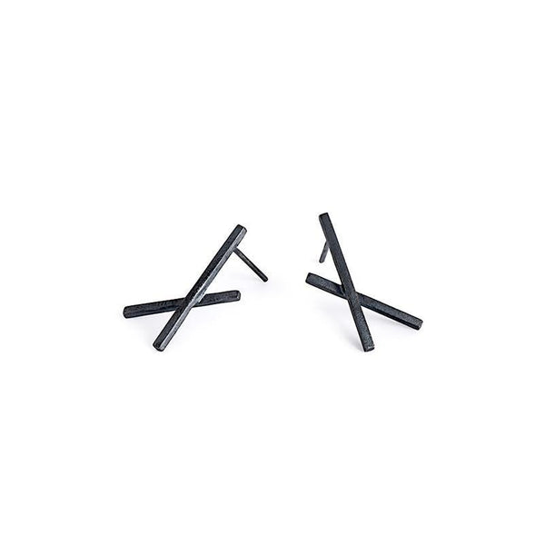 ___ Jewelry Small X Stud Earrings