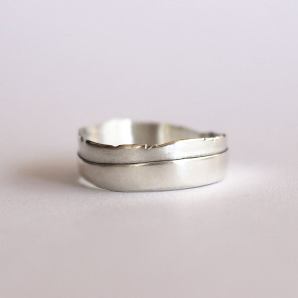 ___ Jewelry Torn Layered Wedding Band