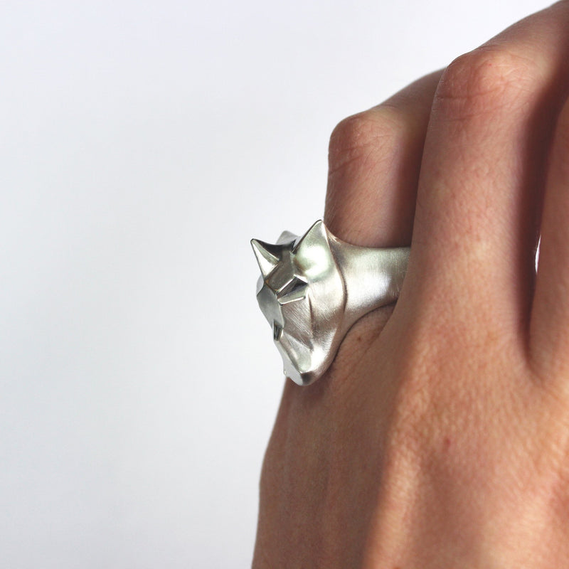 ___ Jewelry Unicorn Ring With Sapphire Setting