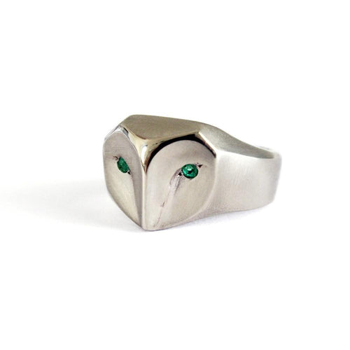 ___ Jewelry White Gold Owl Ring