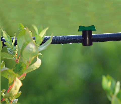 use of straight connectors with tap - drip irrigation system