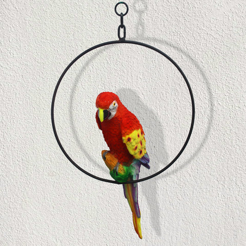 Garden Décor Products - Hanging Parrot for Home Decor Outdoor and Indoor Hanging Garden Decor & Gifting Item