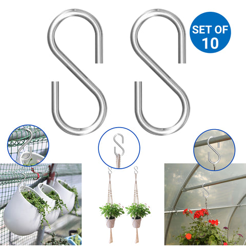 S Hook Hanger - Set of 10