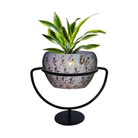 featured_mobile_products - Trophy Planter Stand with look like Ceramic Metal Bowl