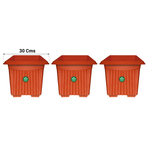 UV Treated Square Plastic Planter(12 Inch)