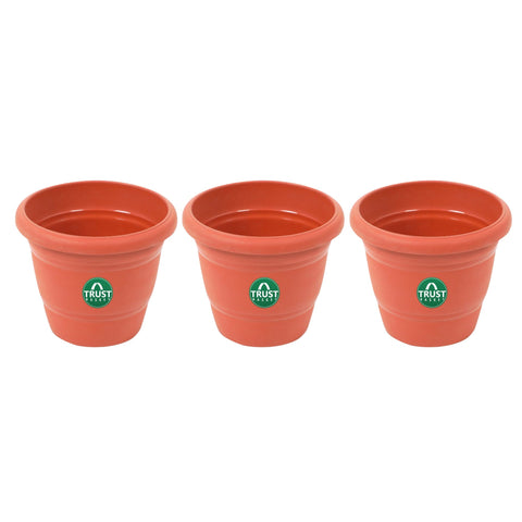 All containers - UV Treated Plastic Round Pots - 14 Inches