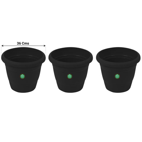 UV Treated Plastic Round Pots - 14 Inches