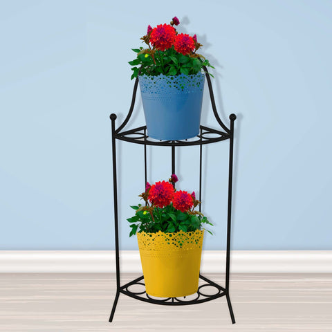 featured_mobile_products - TrustBasket Heavy Gauge 2 Tier Corner Stand for Flower Pot