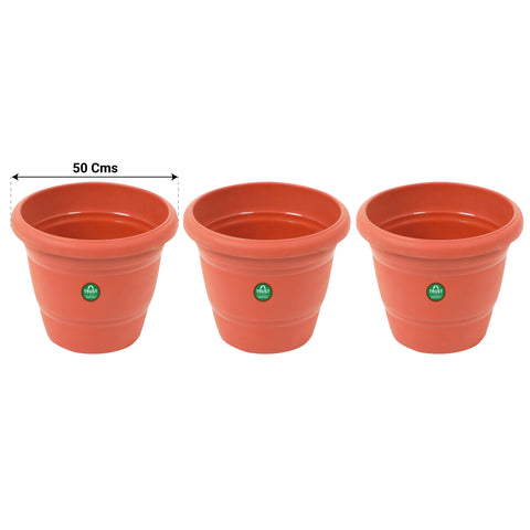 UV Treated Plastic Round Pots - 20 Inches