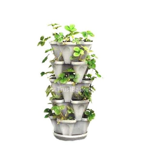 Best Vertical Garden Pots In India - Stack planter- White