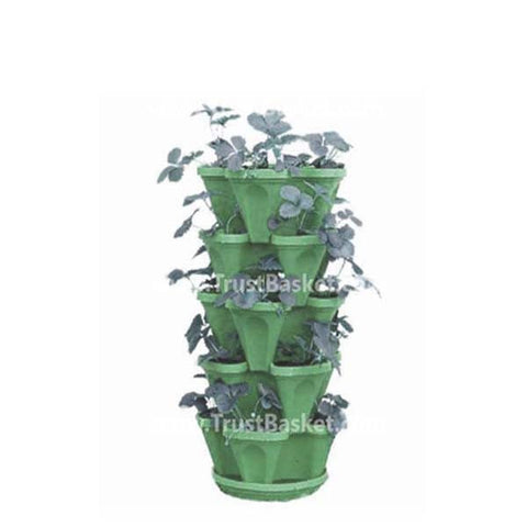 Best Vertical Garden Pots In India - Stack planter-Green