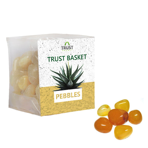 Coloured Pebbles Online - TrustBasket Onyx Yellow Pebbles (1 Kg)