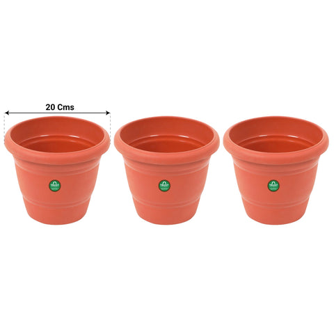 SMALL POTS AND PLANTERS ONLINE - UV Treated Plastic Round Pot - 8 Inches