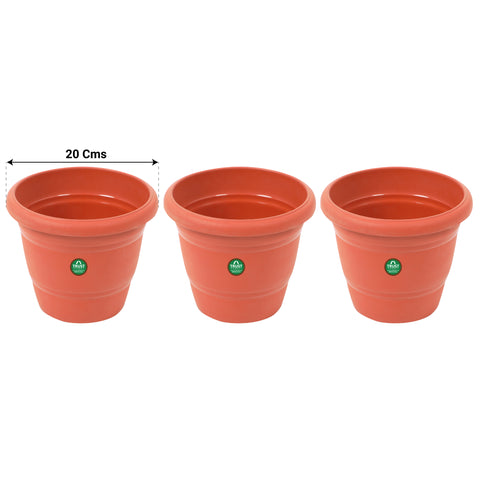 All containers - TrustBasket UV Treated Plastic Round Pot (8 Inches)