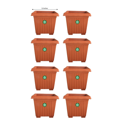 UV Treated Heavy Duty Square Plastic Planter (12 inches)