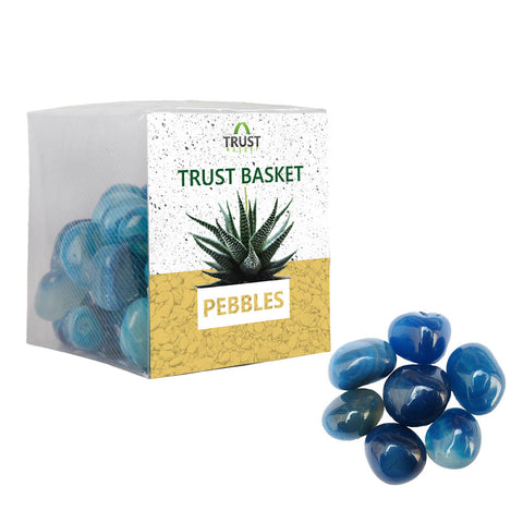 TrustBasket Onyx Blue Pebbles (1 Kg)