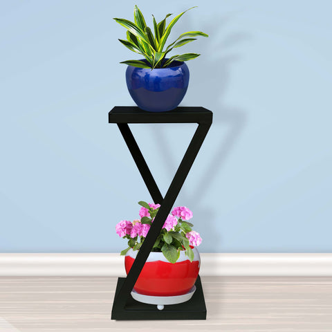 Planter Stand for Flower Pots - Ambar Planter Stand-Black