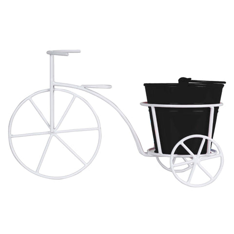 Bicycle With Bucket Planter for Small Indoor Plants