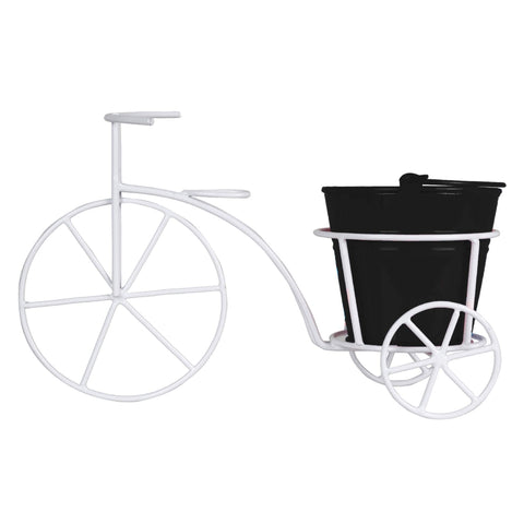 Indoor TableTop Planters - Bicycle With Bucket Planter for Small Indoor Plants