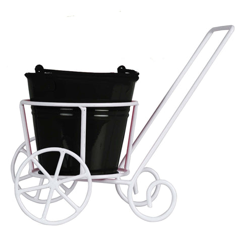 Indoor TableTop Planters - Trolley with Bucket Planter for Small Indoor Plants