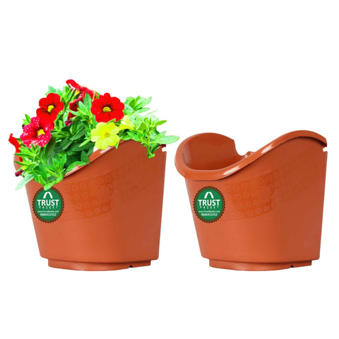 Best Vertical Garden Pots In India - Vertical Gardening Pouches (Brown) - Extra Large