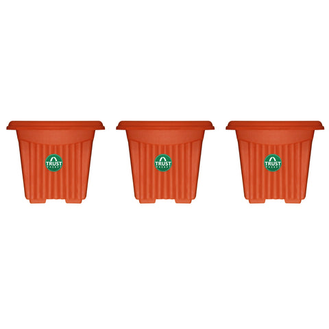 Plastic garden Pots - UV Treated Square Plastic Planter (6 inches)