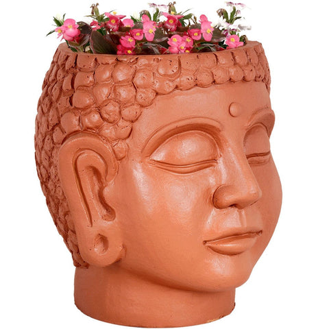Buddha Head Planter - Terracotta Handmade (FREE SHIPPING) - Trust Basket  - 1