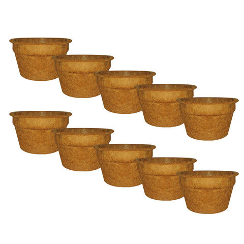 SMALL POTS AND PLANTERS ONLINE - TrustBasket Coco Coir Pot for Garden Plants - Set of 10