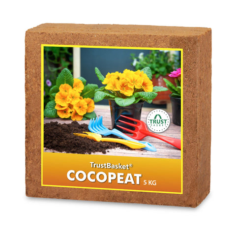 Best Plant Food Products in India - COCOPEAT BLOCK - EXPANDS TO 75 LITRES of COCO PEAT POWDER