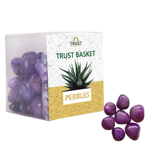 Polished Pebbles Online - TrustBasket Onyx Violet Pebbles (1 Kg)