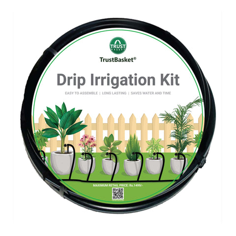 Drip Irrigation Kits - TrustBasket Drip Irrigation Garden Watering Kit for 30 Plants