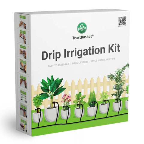 Valentines Day Offer - Buy 2 Get 20% Off - TrustBasket Drip Irrigation Garden Watering Kit for 100 Plants