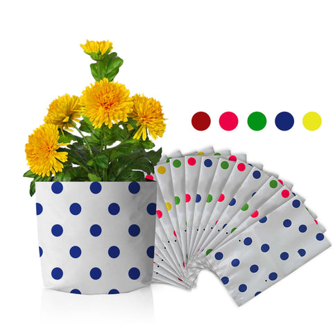 Best Garden Grow Bags in India - Set of 20 premium colourful Dotted Grow bags (20*20*35 cms)