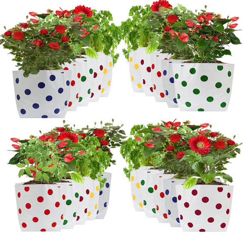 Set of 20 premium colourful Dotted Grow bags (20*20*35 cms) - Trust Basket  - 1