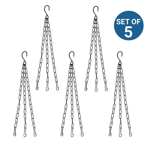 Hangers for Planter Support - Hanging Metal Chain - Set of 5