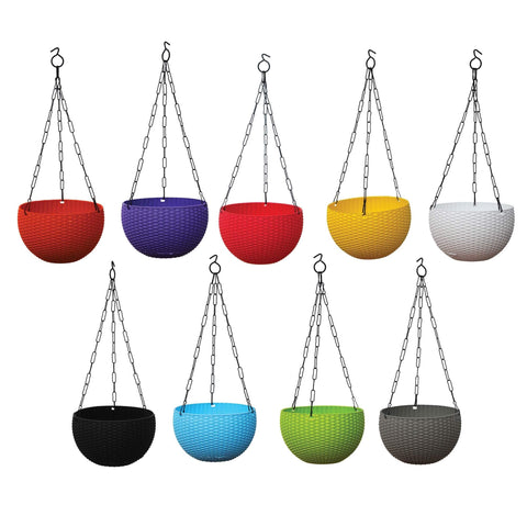 - Weave Hanging Basket Mixed Colours (Set of 5)